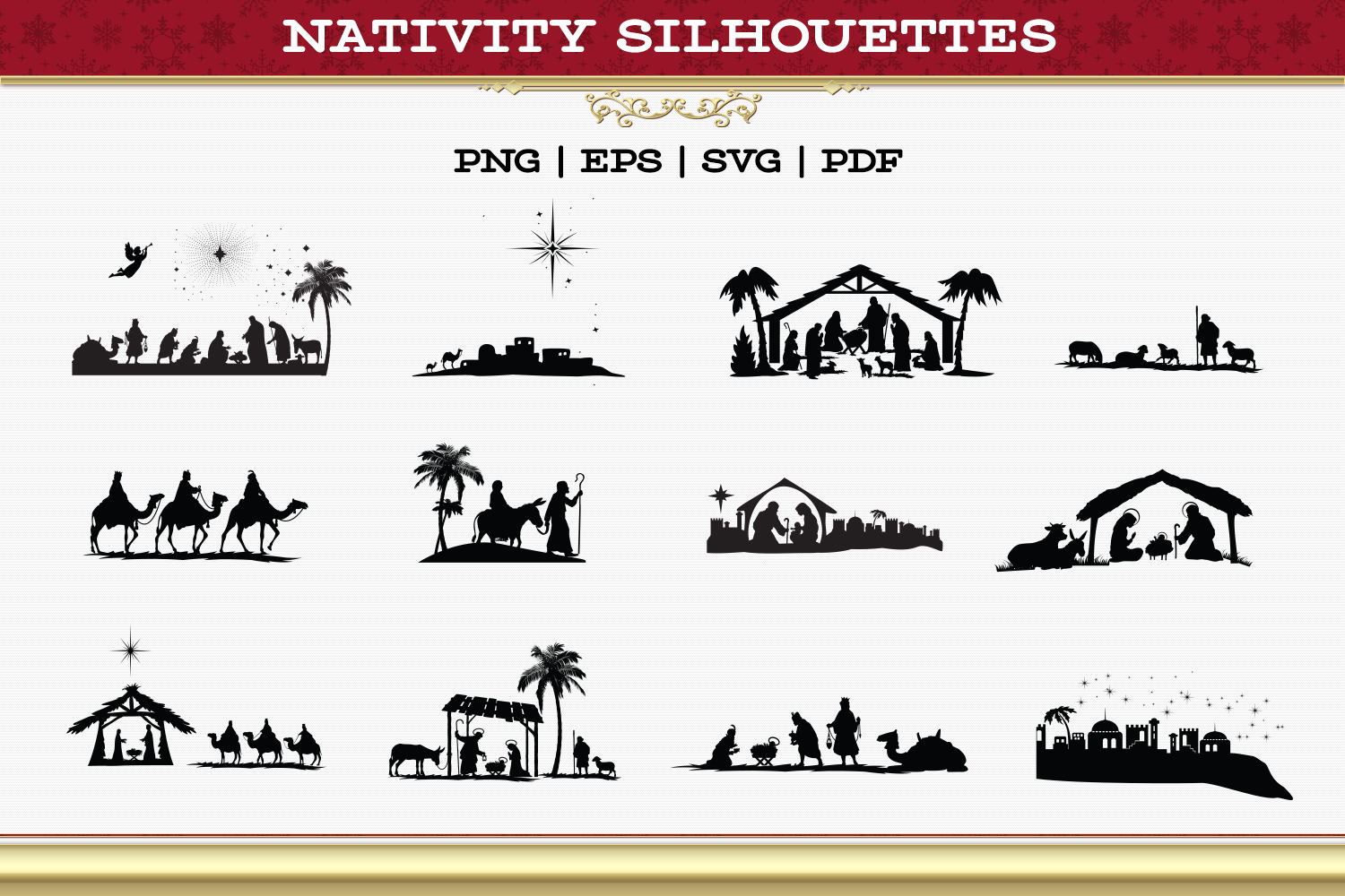 Nativity Silhouettes example image 2