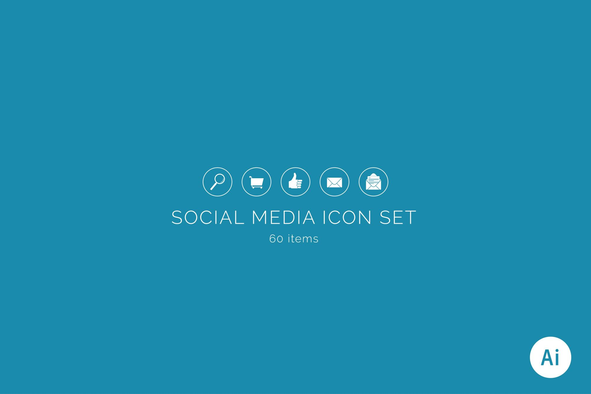 Social Media Icon Set example image 1