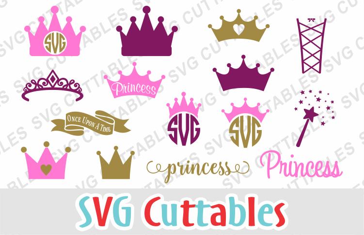 Princess Crown Set of 15 example image 1