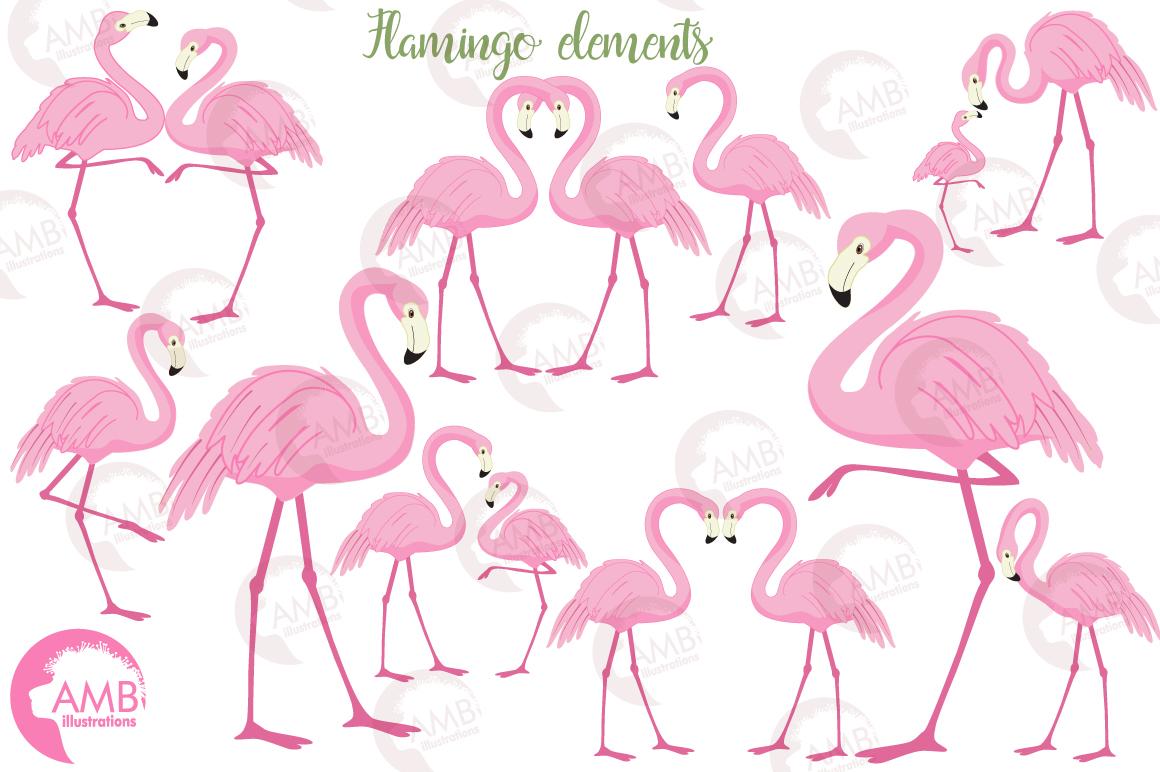 Flamingos clipart mega pack, graphics, illustrations AMB-1047 example image 5