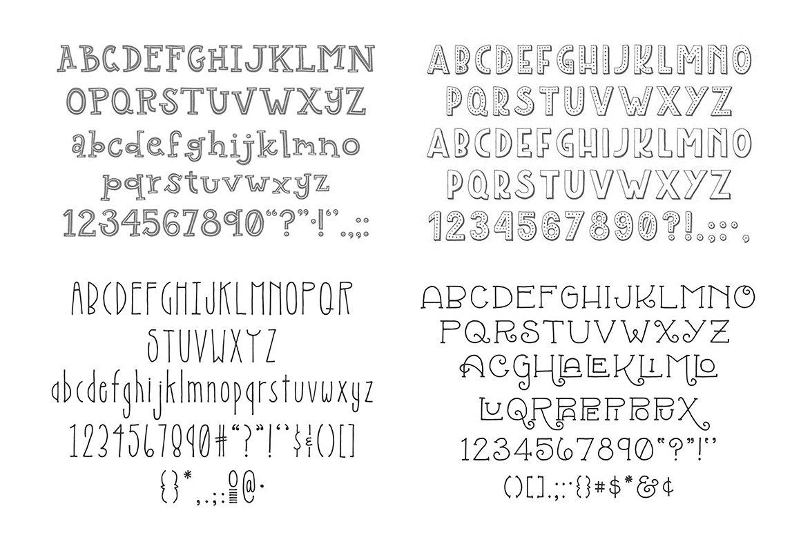 Top 5 Bestselling Fonts Bundle Pack example image 9