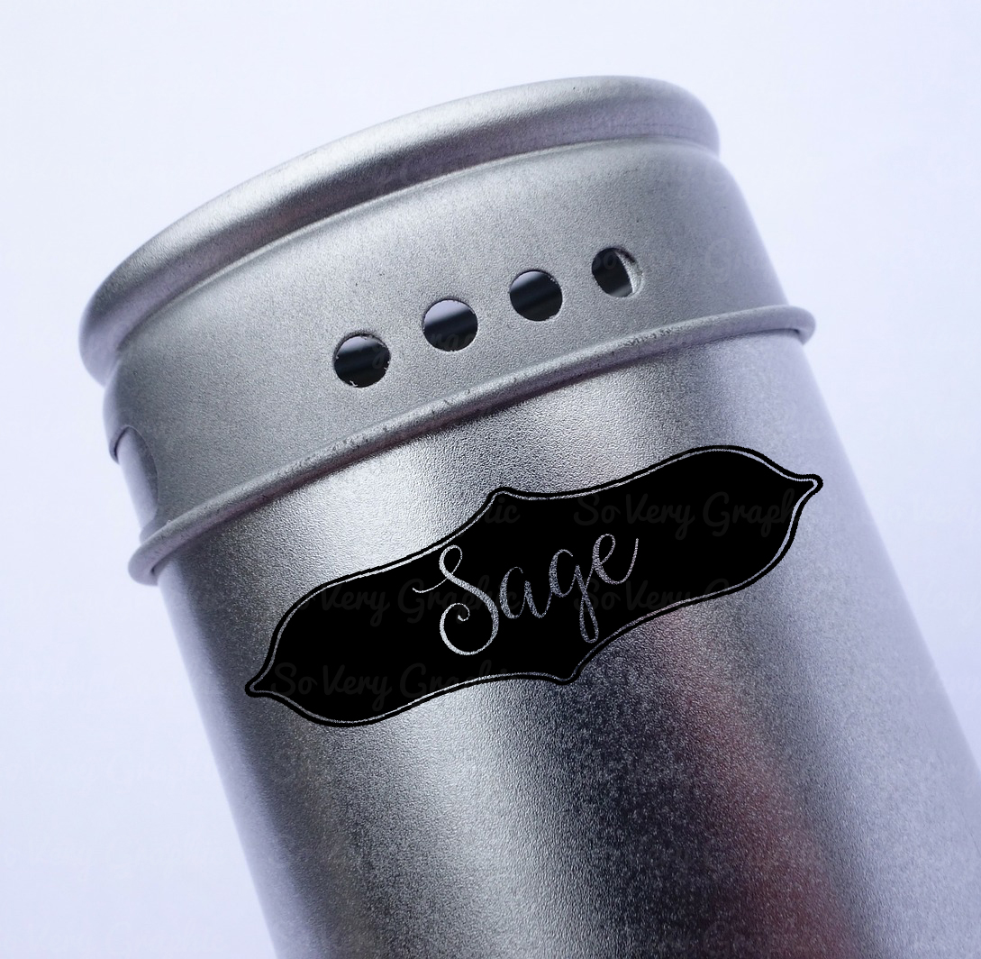 Vintage Spice Jar Label Set of 32 | SVG Cutting Files example image 4