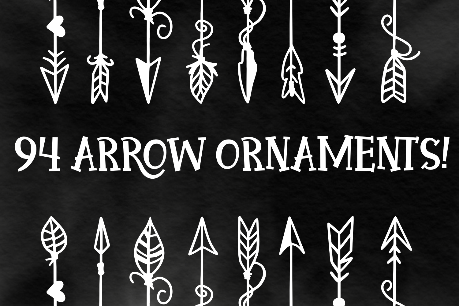Arrow Font - Ornaments  example image 2