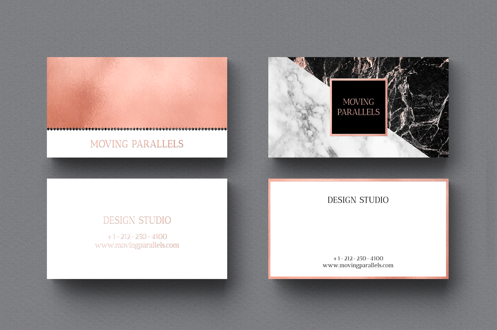 Rose gold marble business cards bundle design bundles rose gold marble business cards bundle example image 5 colourmoves