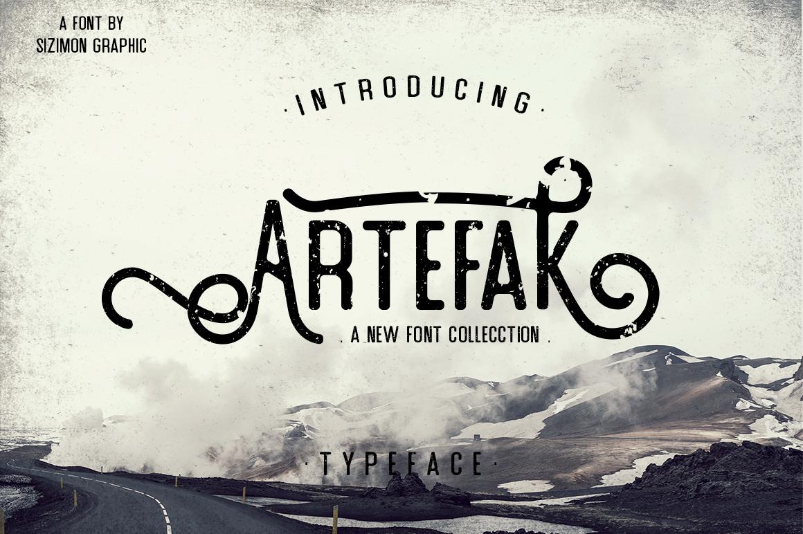 Artefak Typeface + Extras example image 1