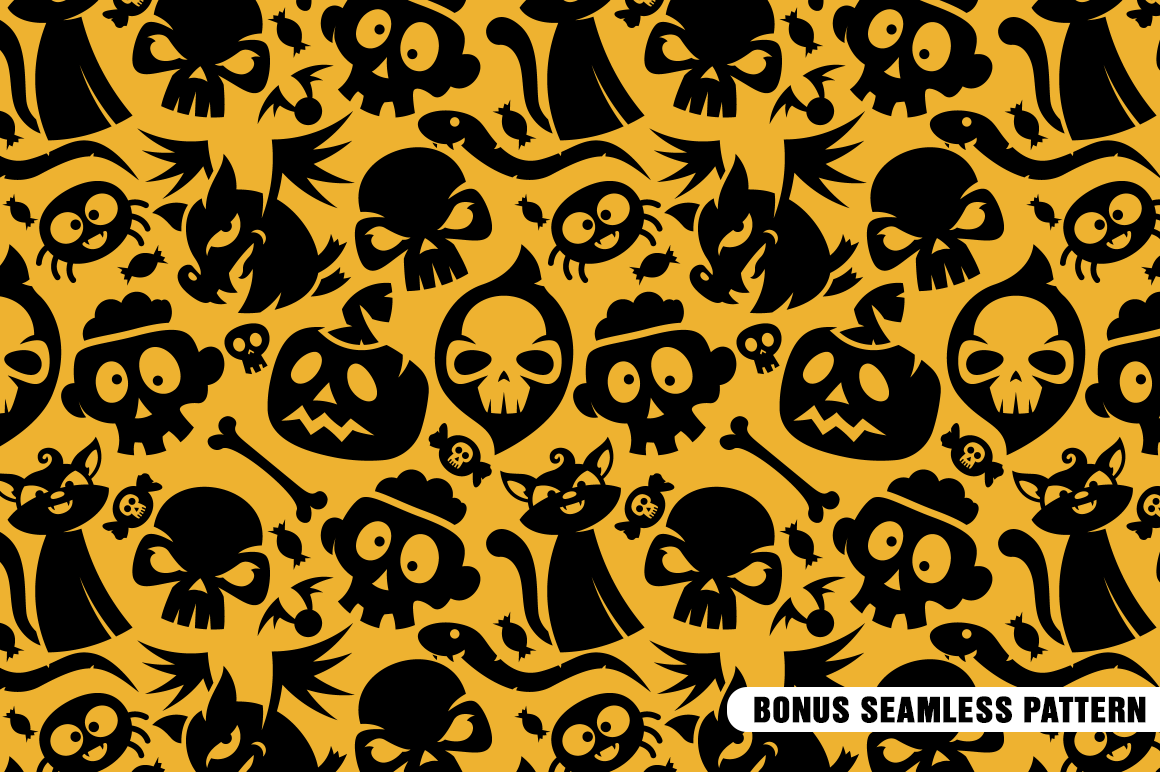Halloween Vector Shapes Collection example image 8