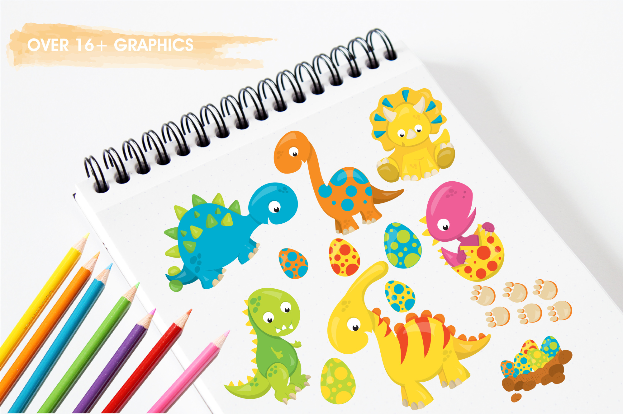 Dinosaur Babies graphics and illustrations example image 3