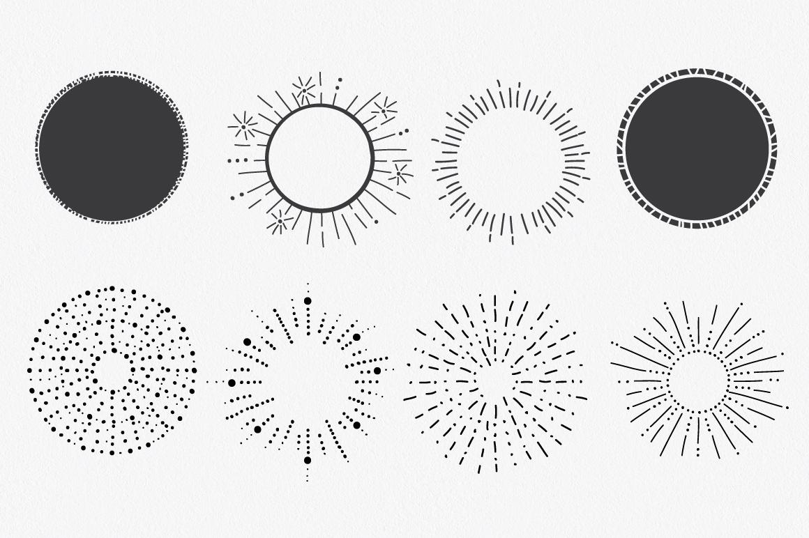Hand Drawn Circle Shapes - Logo elements example image 5