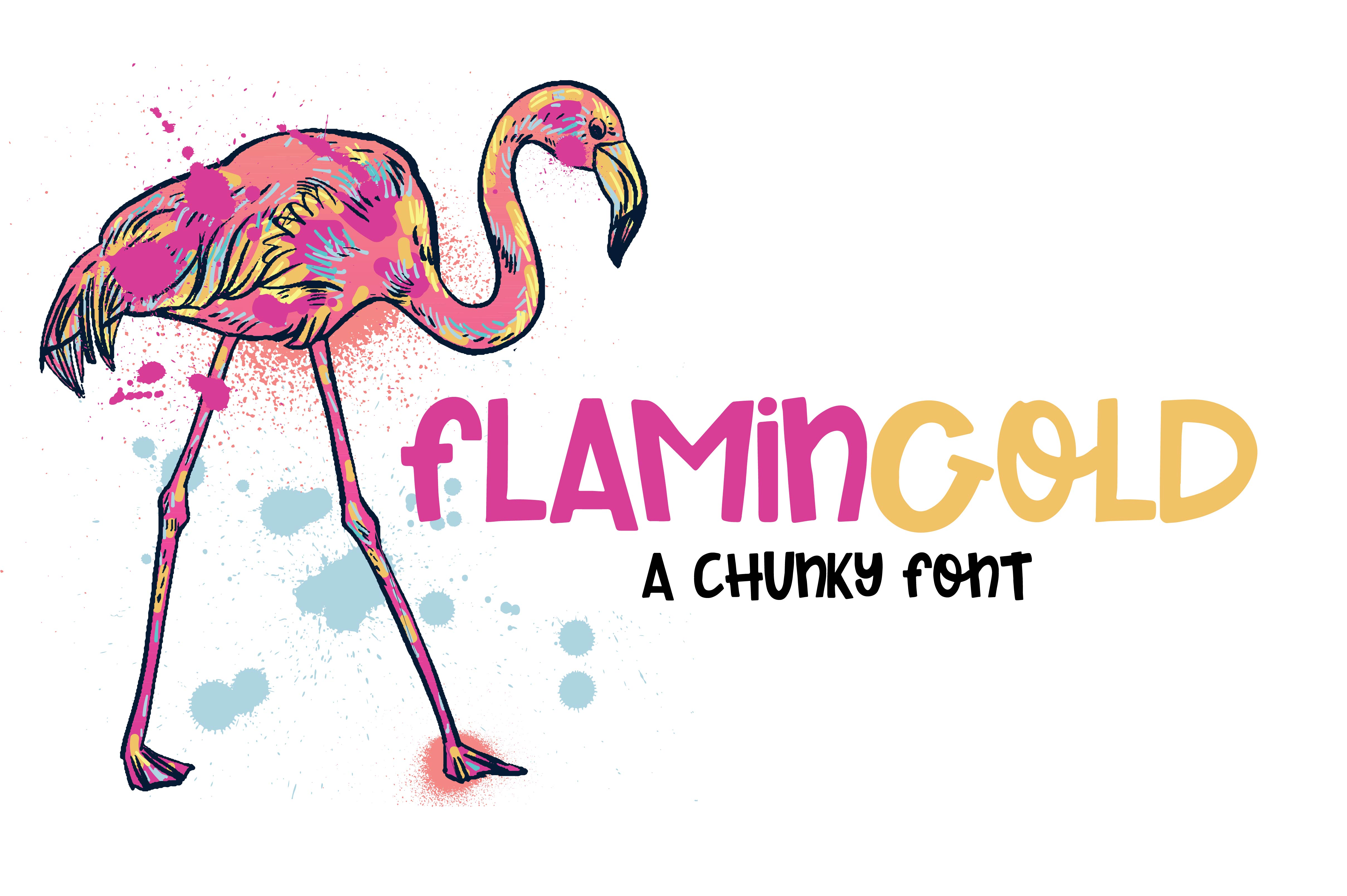 Flamingold - A Chunky Font example image 1