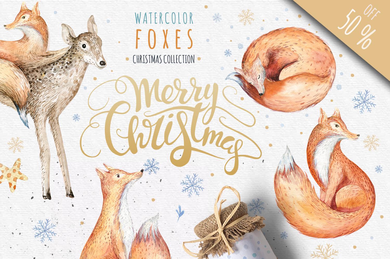 60%off Watercolour Christmas BUNDLE! example image 3