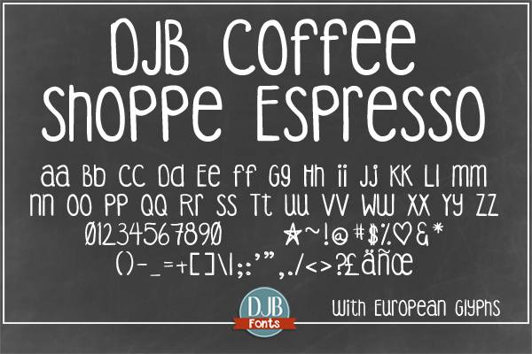 DJB Coffee Shoppe Font Bundle example image 5
