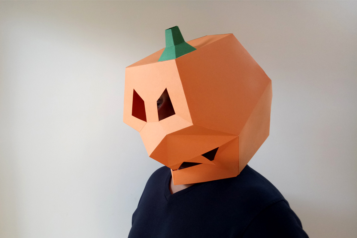 DIY Pumpkin Mask - 3d papercraft example image 5