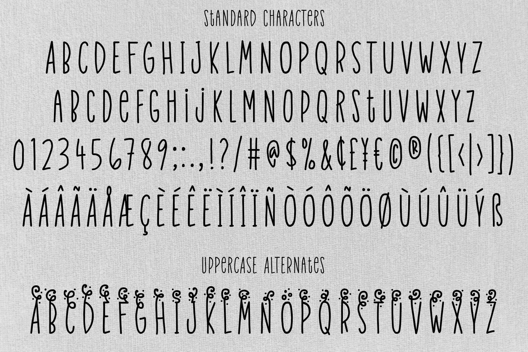 Velvet Pants: a tall, narrow caps font! example image 2