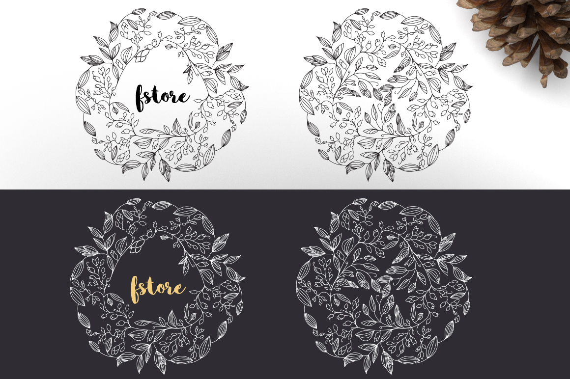 12 Floral design elements/ Pro example image 3