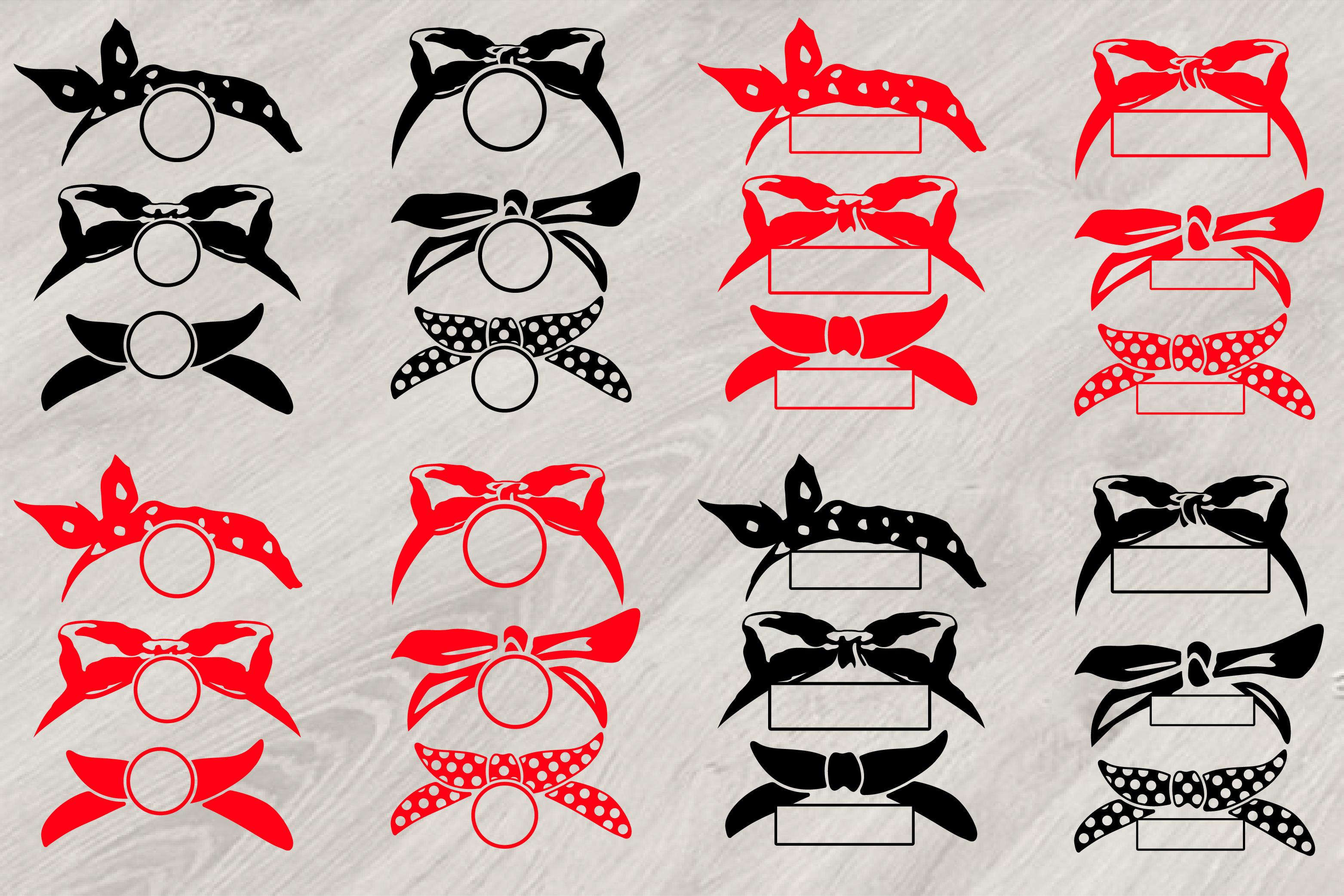 Bandana Circle Split Svg Wild West Wes Design Bundles
