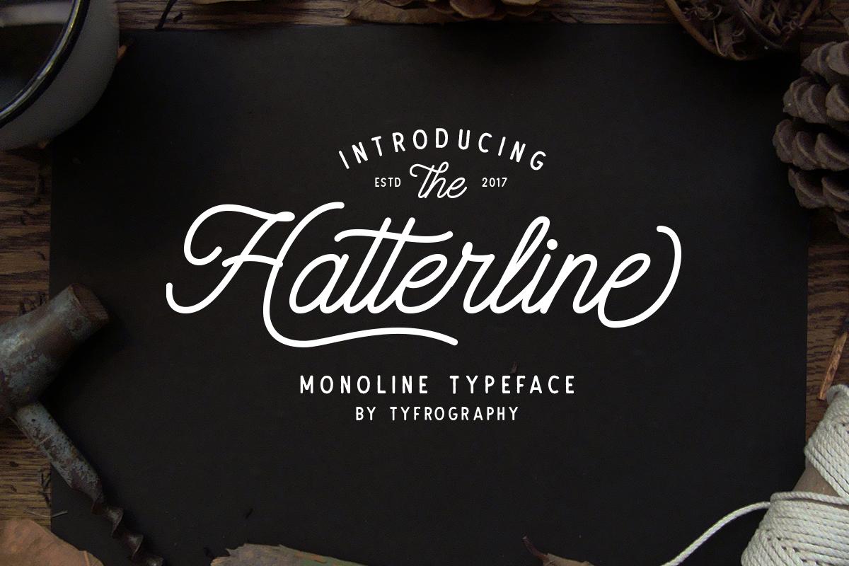 Hatterline Font + Sans example 1