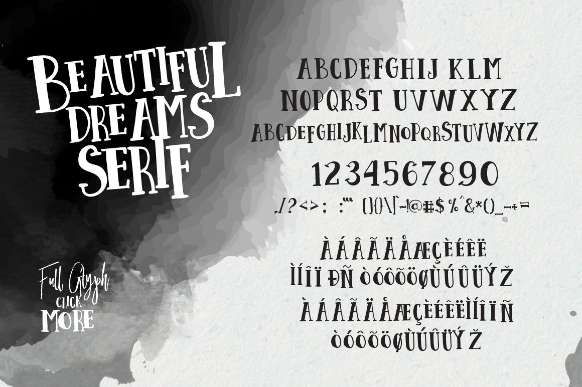 Beautiful Dreams - Font Duo example image 10