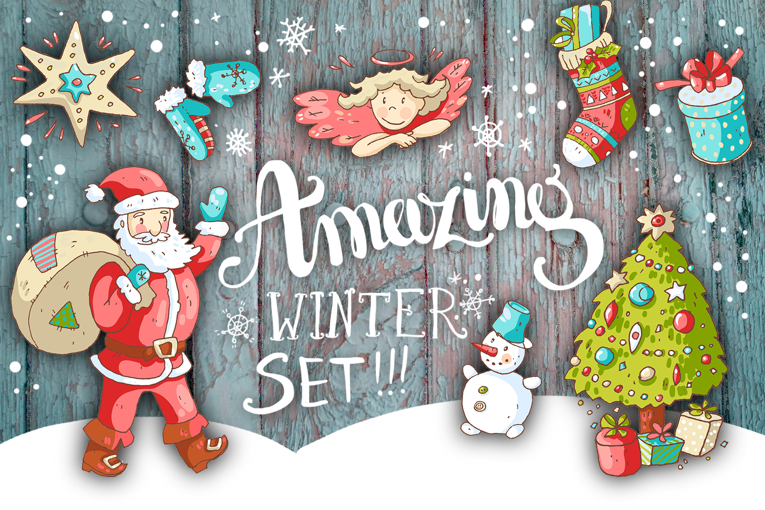 Cute doodle Xmas and New Year example image 1