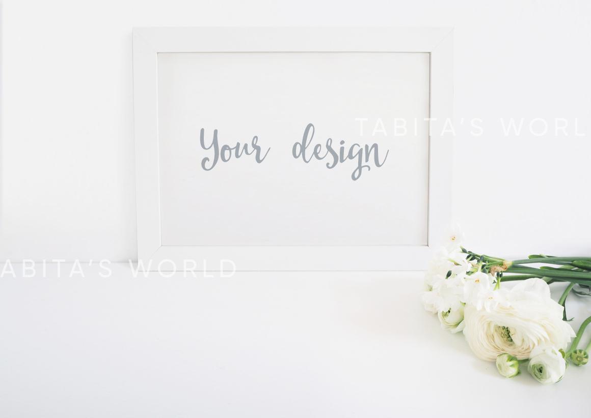 The White Flowers mock ups & photos bundle example image 4