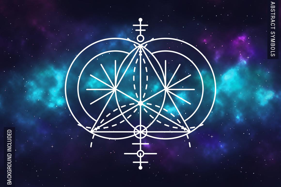 100 Sacred Geometry Symbols  example image 22