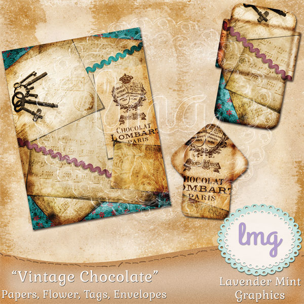 Vintage Chocolate Junk Journal Kit example image 3