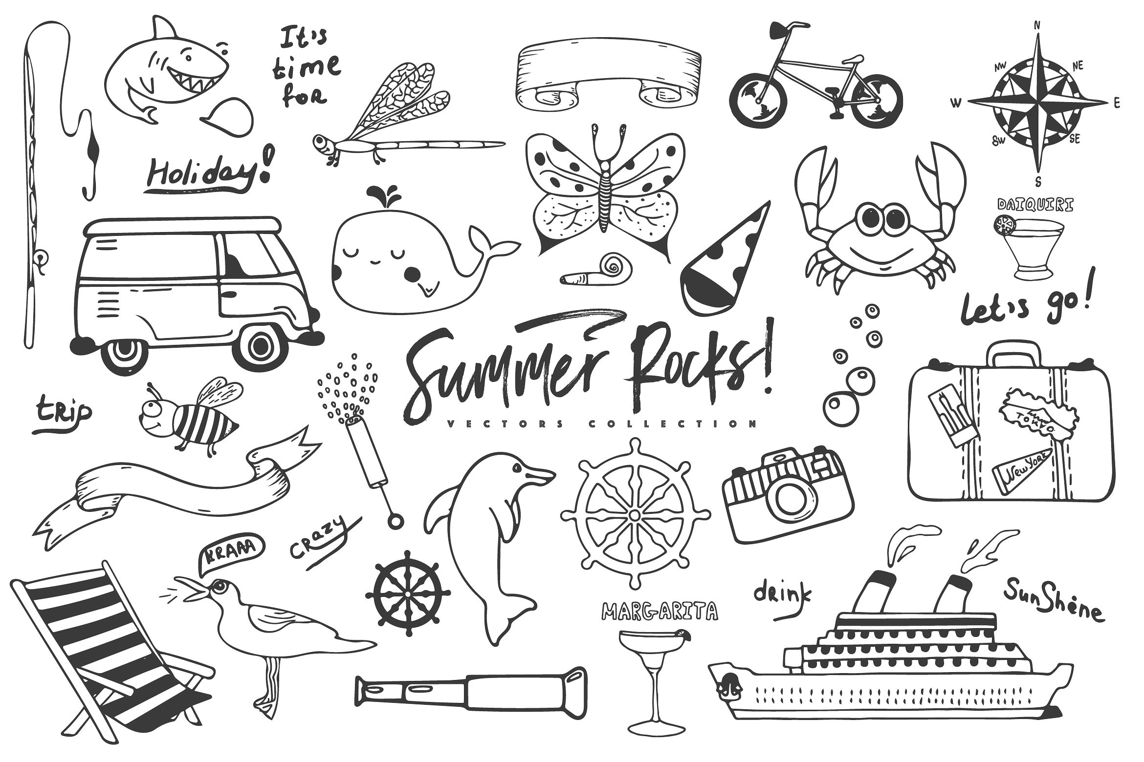 Summer Rocks! Vectors Collection example image 12