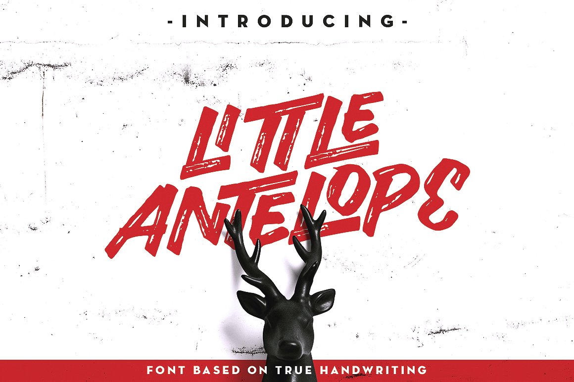 Little Antelope Font example image 2