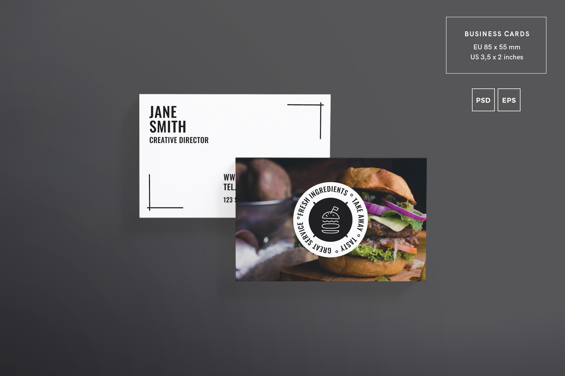 Burger house business card design templ design bundles burger house business card design templates kit example image 2 colourmoves