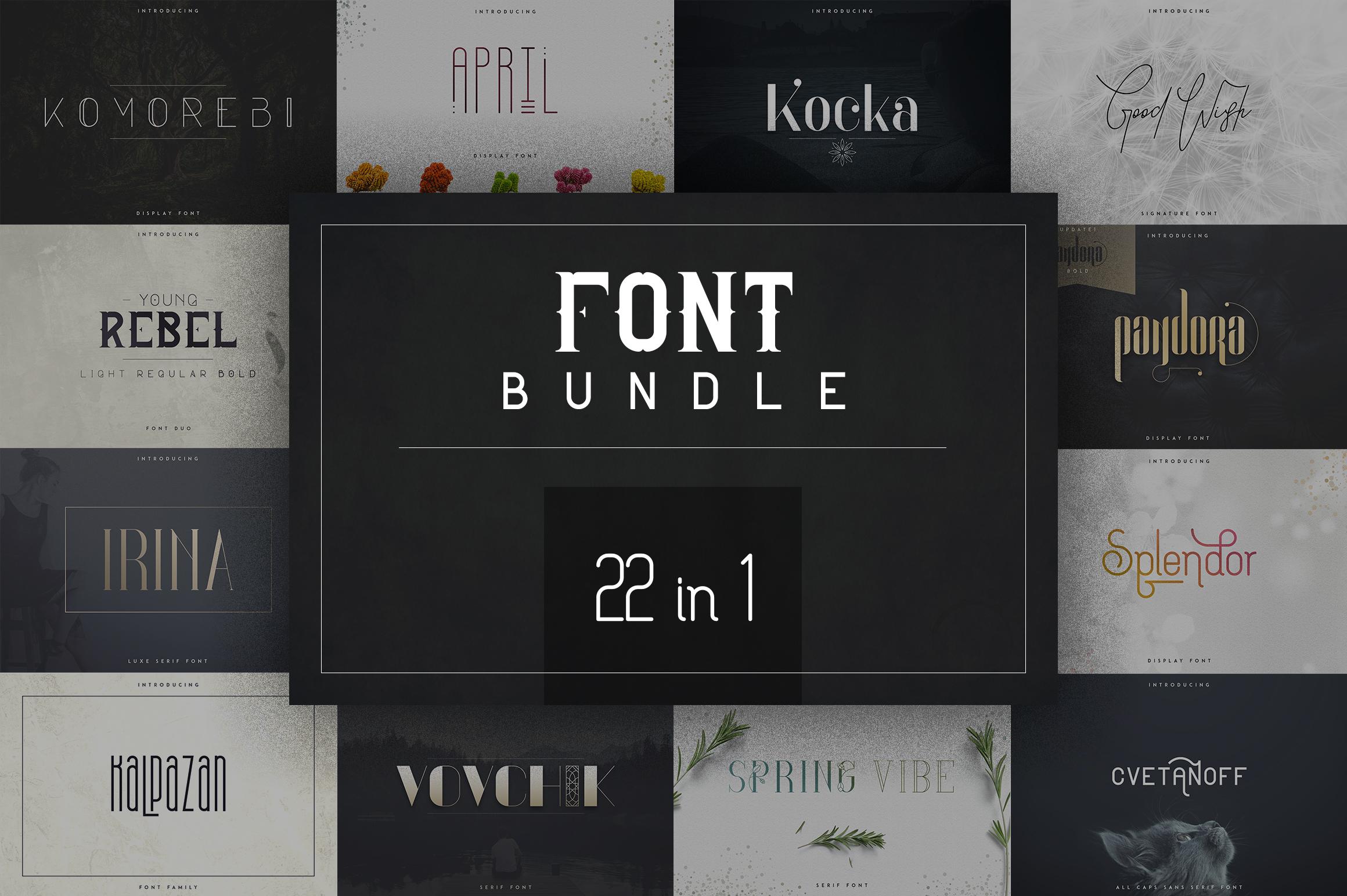 22in1 Legendary Font Bundle example image 1