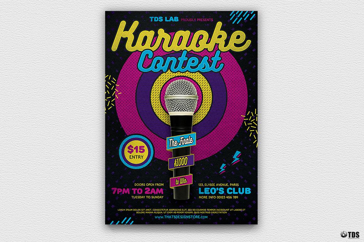 Karaoke Flyer Template V6 example image 2