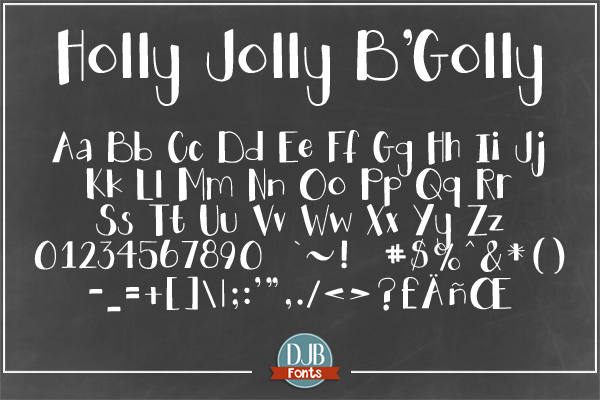 DJB Holly Sessions Font Bundle example image 8