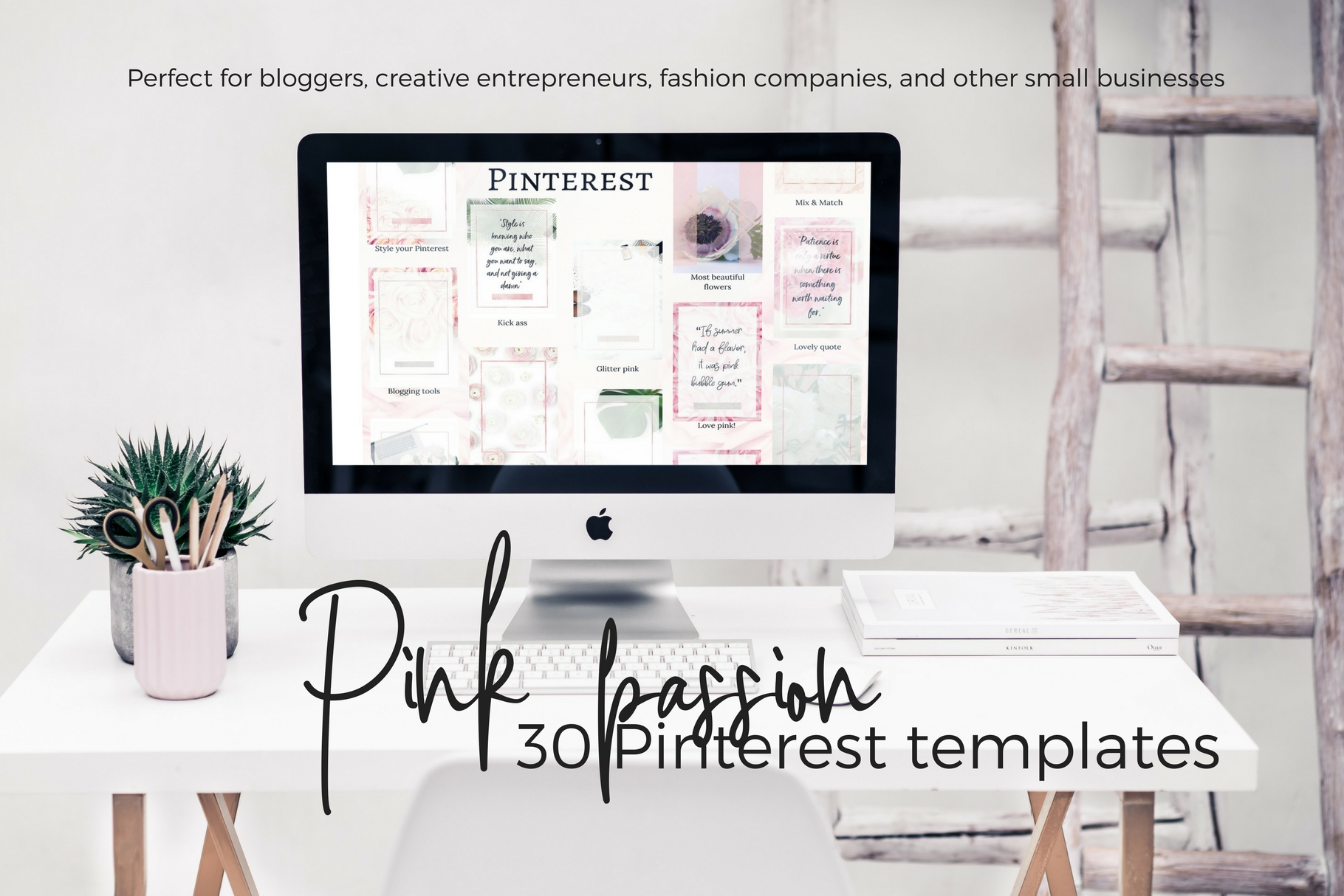 Pinterest templates- Pink passion example image 1