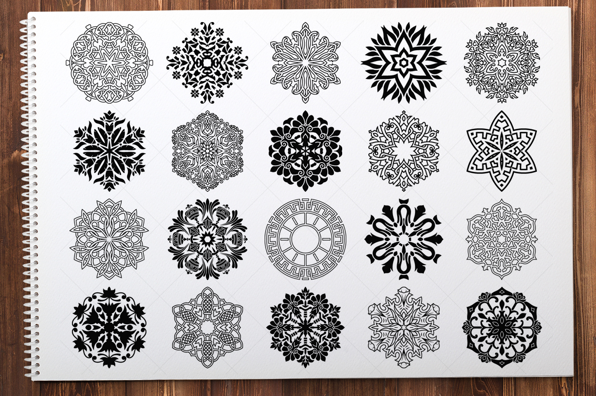 500 Vector Mandala Ornaments example image 4