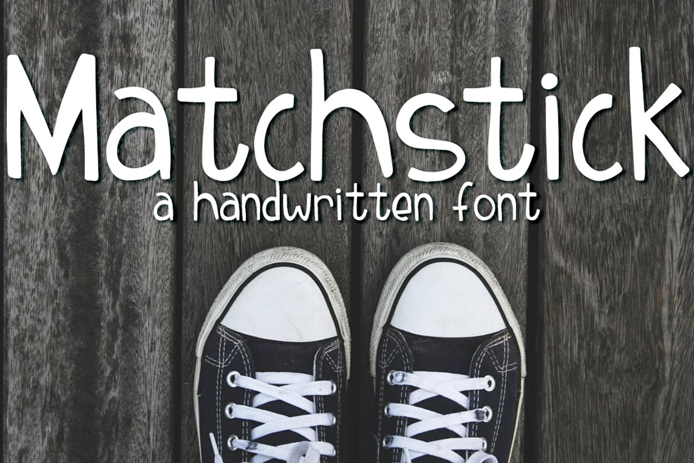 Matchstick Font example 1