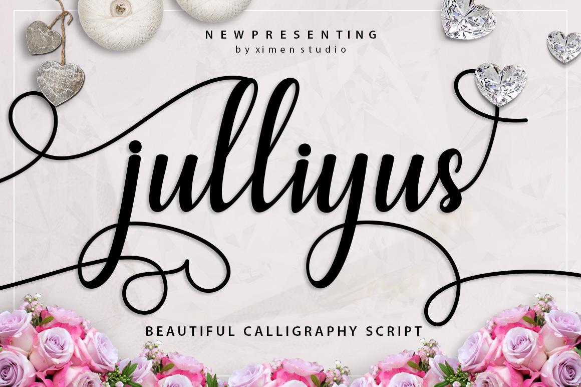 Julliyus Script example image 1