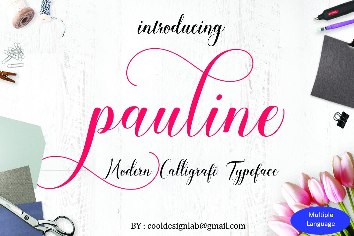 Pauline script (30% OFF) example image 1