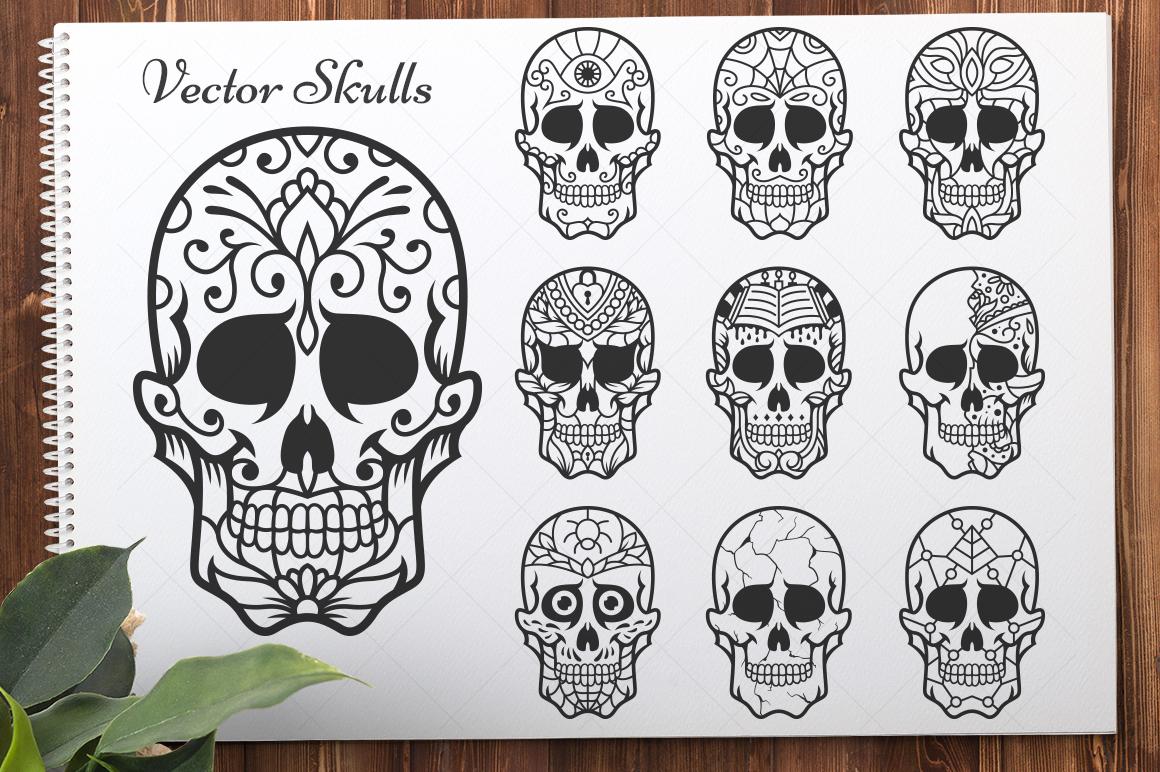 50 Vector Sugar Skulls example image 4