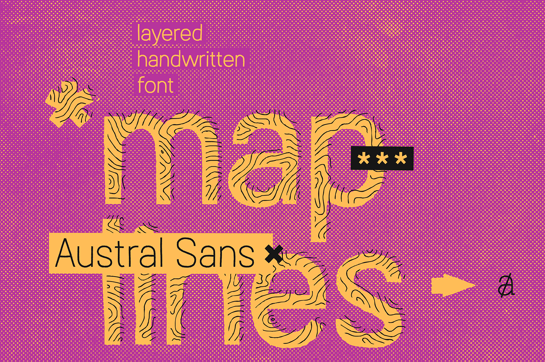Austral Sans Maplines example image 1