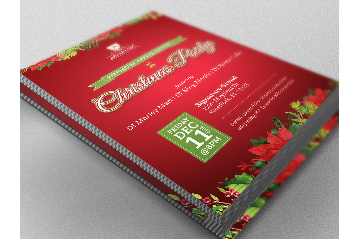 Christmas Party Flyer Template example image 2