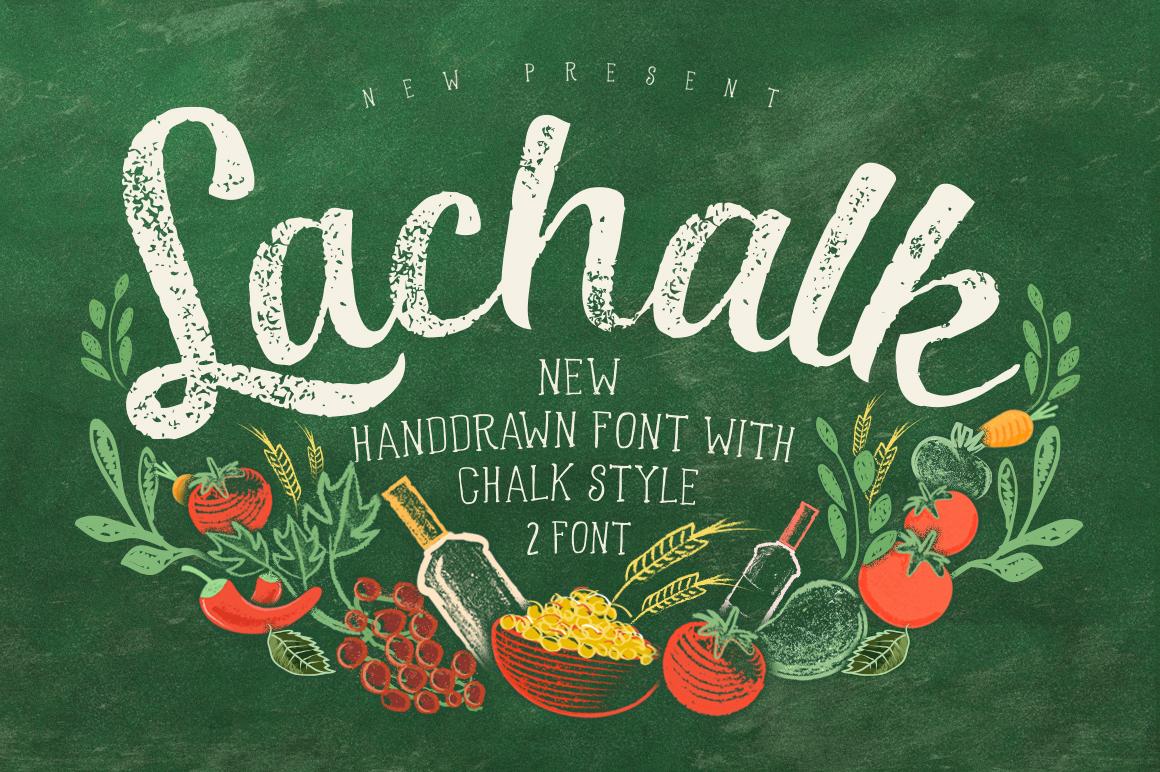 LaChalk Typeface + Extras example image 1