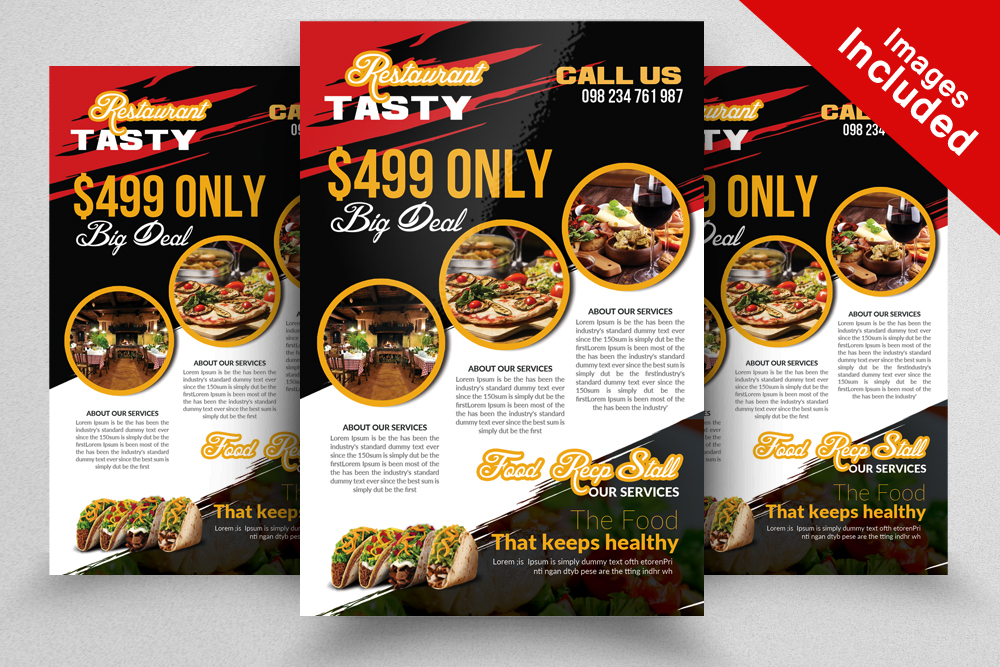 Restaurant Flyer Template By Designhub  Design Bundles