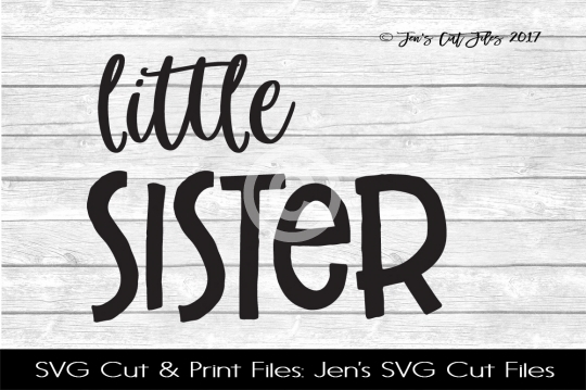 Little Sister SVG Cut File example image 1