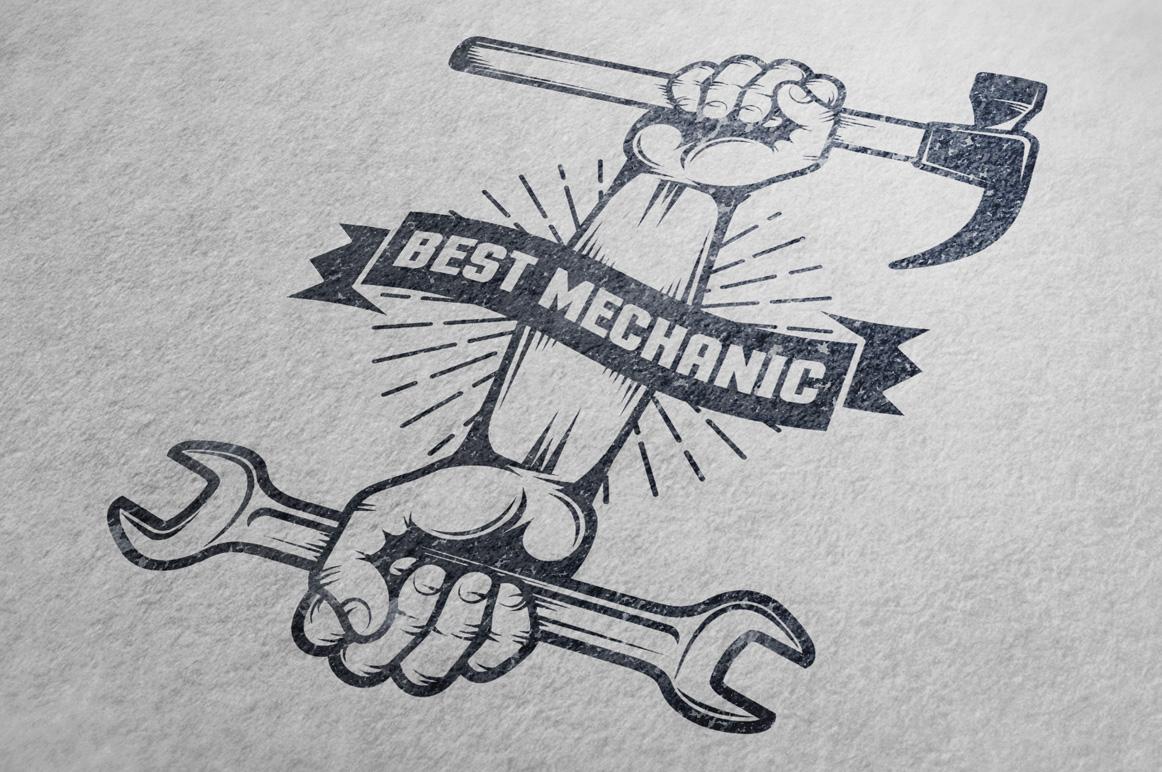 Repair workshop logo set example image 4