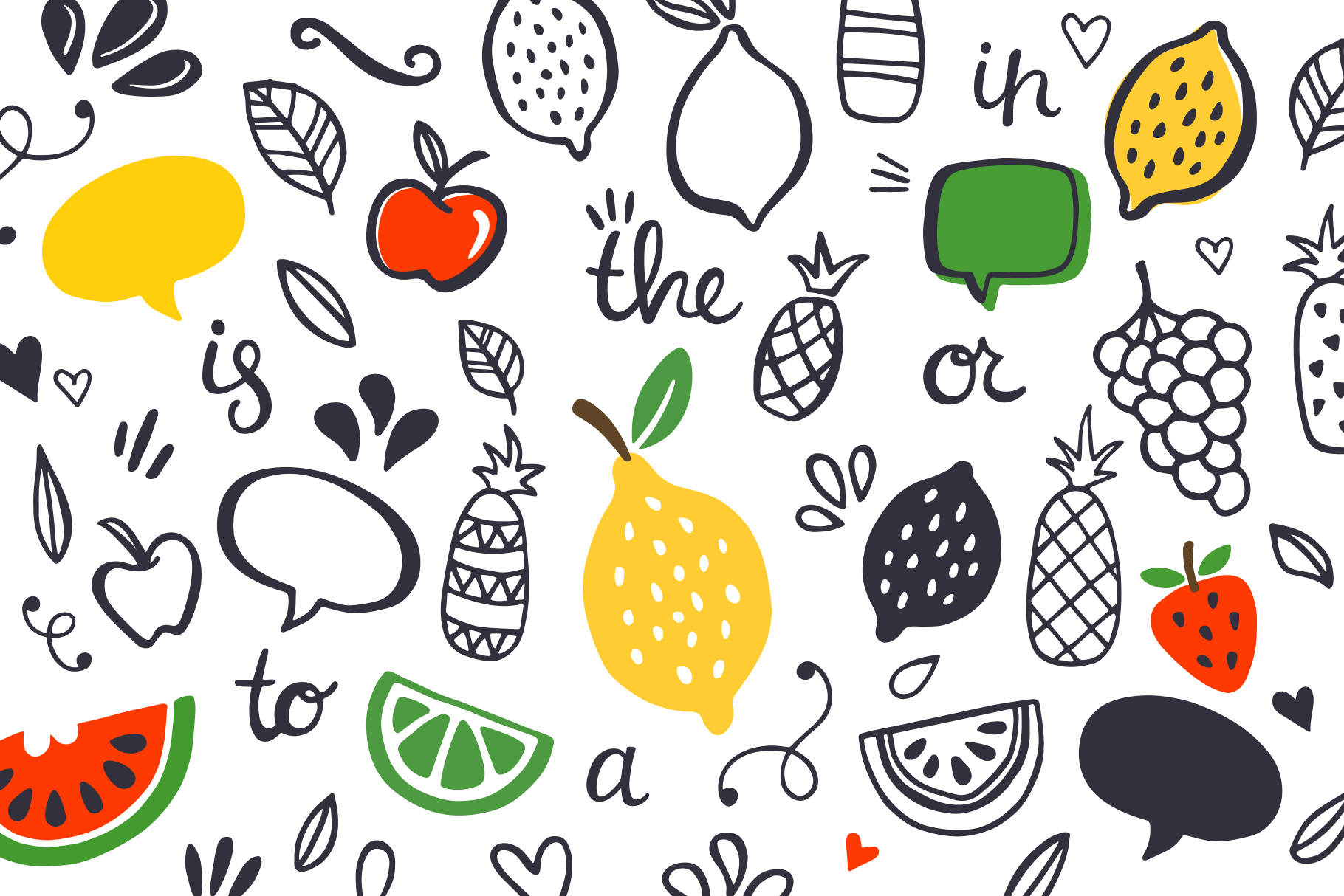 One in a Melon Font + Doodles! example image 5