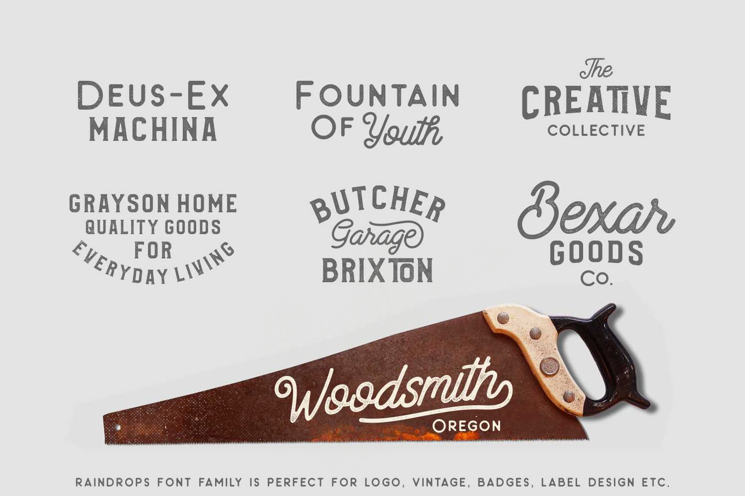 Raindrops Font Family  example image 3