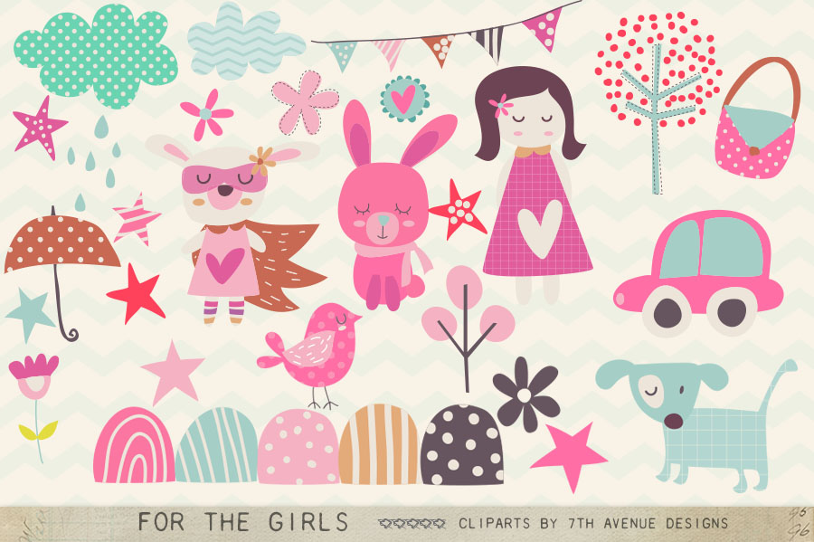 For the Girls Cliparts example image 1
