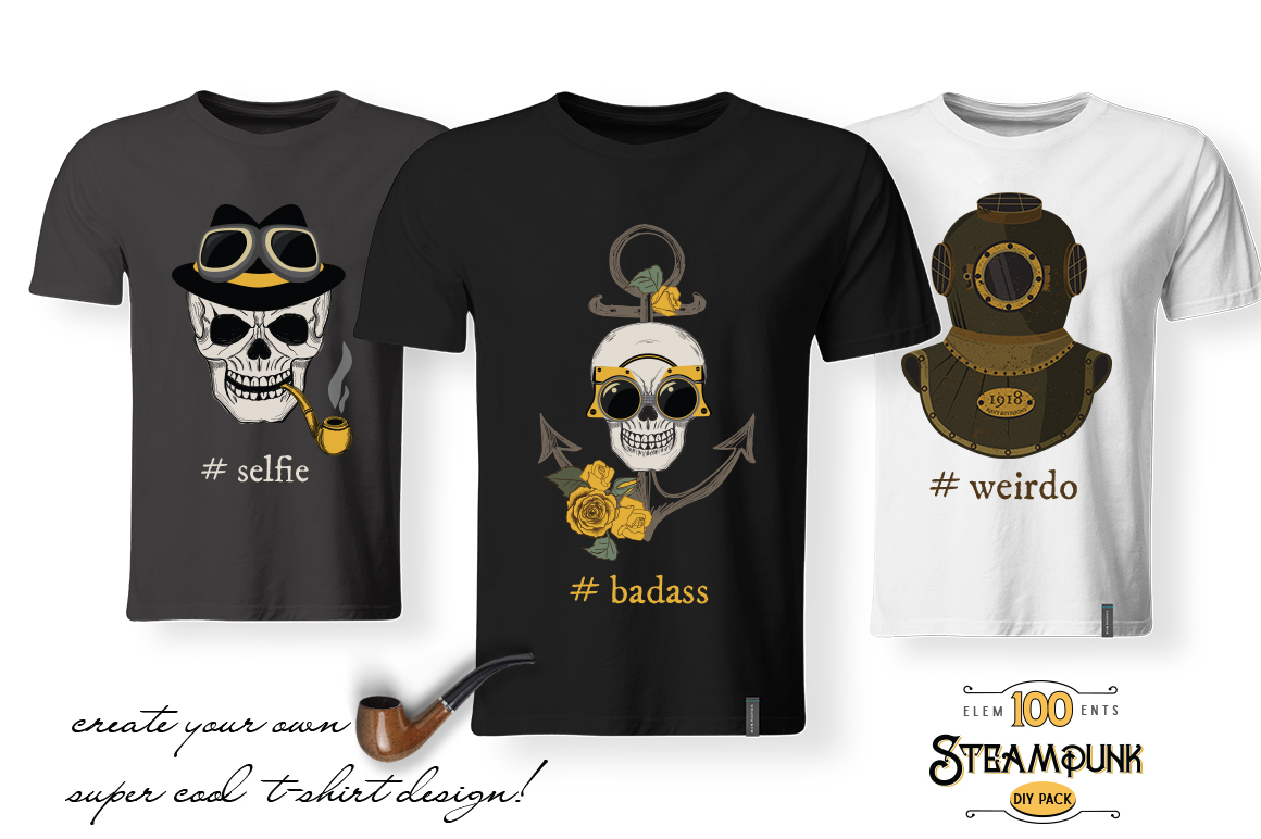 STEAMPUNK Bundle example image 9
