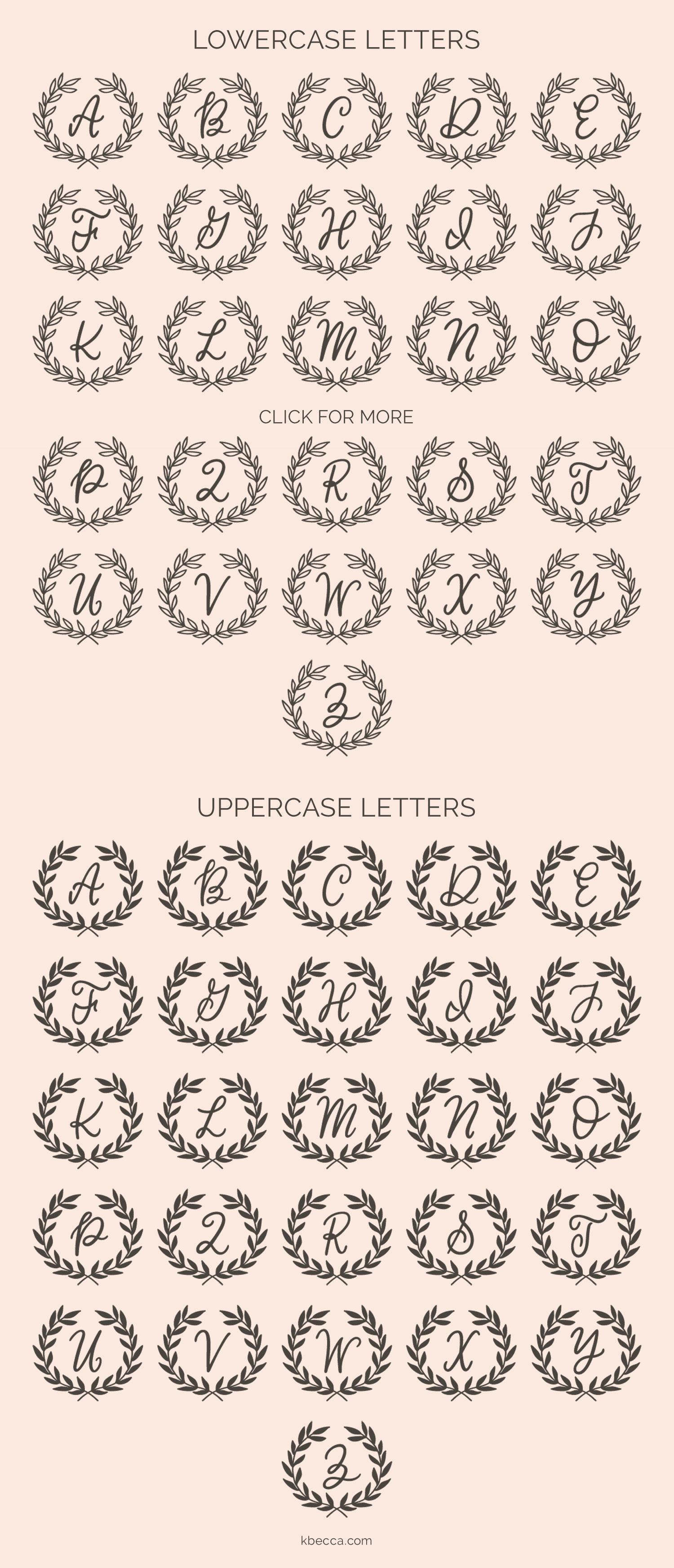 Classic Wreath Monograms Dingbat Font example image 5