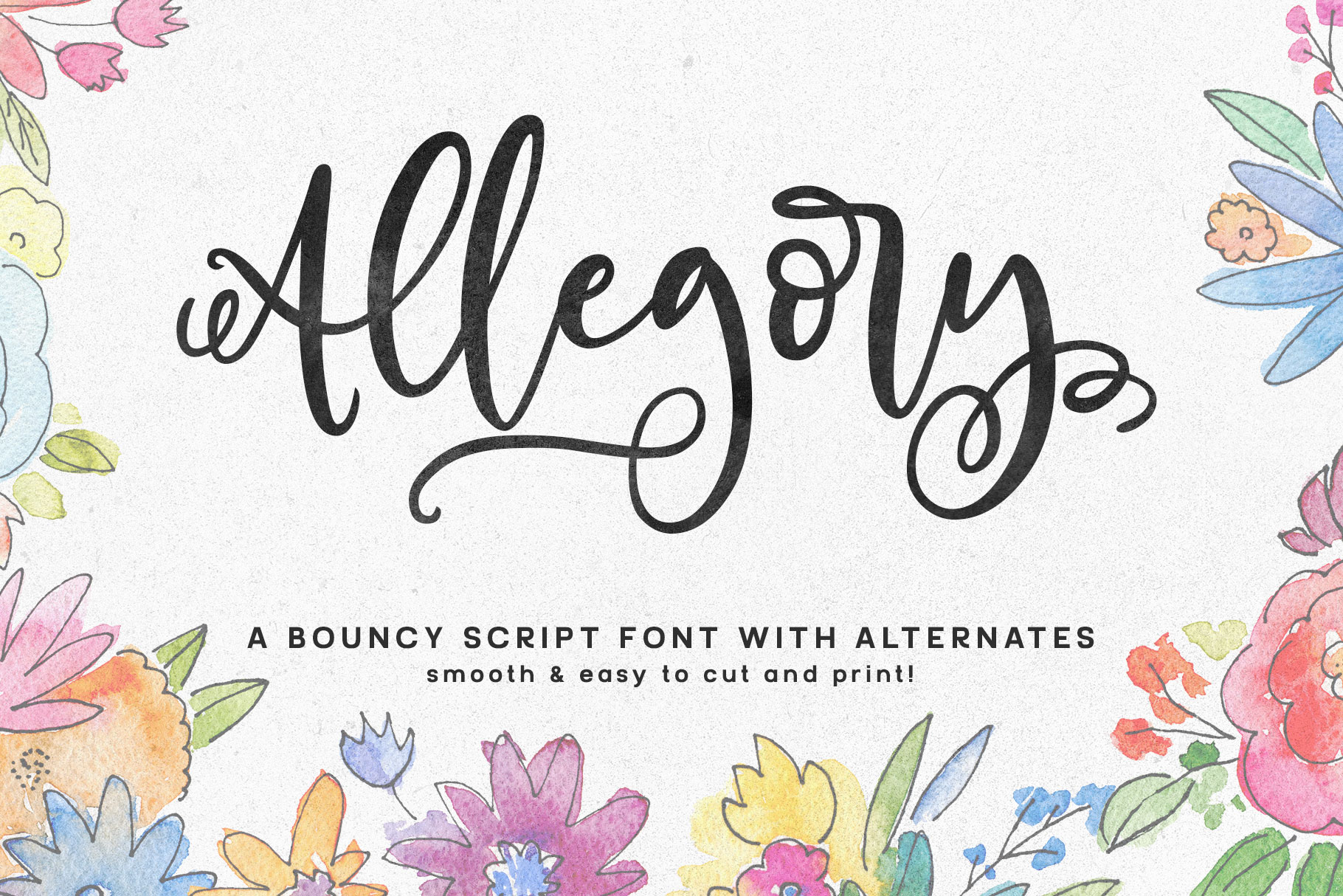 Allegory: a fun and curly script example image 1