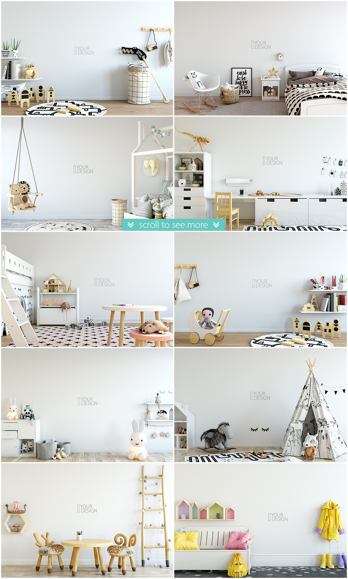 KIDS WALL & FRAMES Mockup Bundle - 2 example image 2